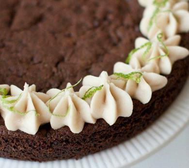 Chocolate Cayenne Lime Cookie Cake