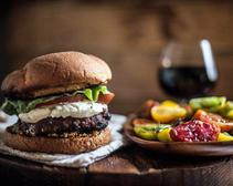 Red-Wine Soaked Burgers