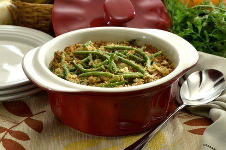 Blue Cheese and Green Bean Casserole