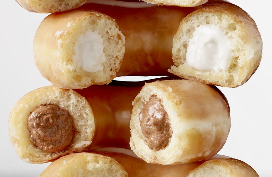 Krispy Kreme's New Original Glazed Doughnut Is Filled With Cream