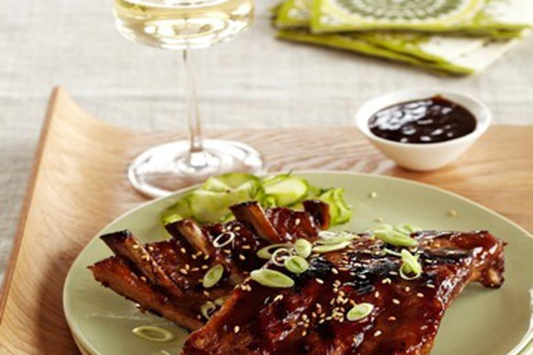 Sticky Asian Barbecued Baby Back Ribs