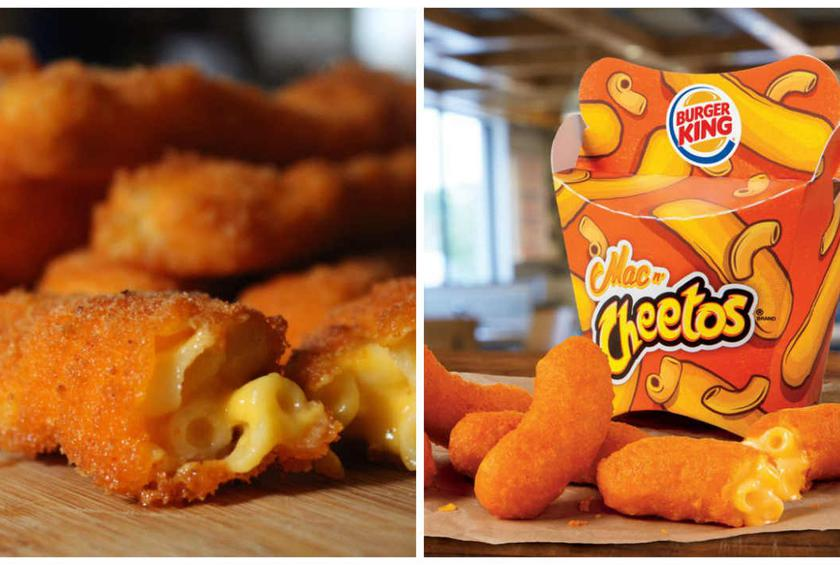 On the left, the Vulgar Chef's creation: On the right, a fast food imitation?