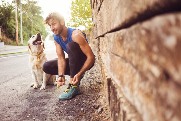 Your dog keeps you active
