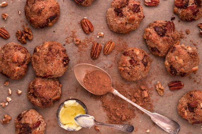 Whiskey-Bacon Cookies with Pecans and Maple Sugar