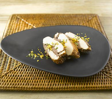 Chicken Thigh Cutlets Stuffed with Olive and Dried Plum Tapenade
