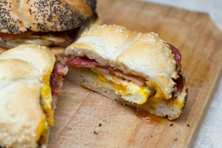 Bacon, Egg, and Cheese Breakfast Bagel