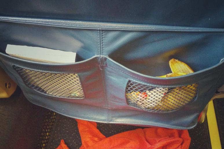 Putting Your Trash in the Seatback Pocket