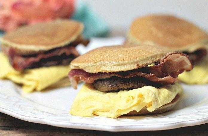 Maple Pancake Breakfast Sandwiches Recipe By Carolyn Menyes
