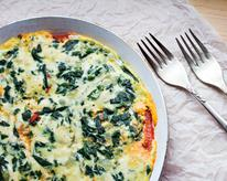 Spinach and Feta Egg Scramble