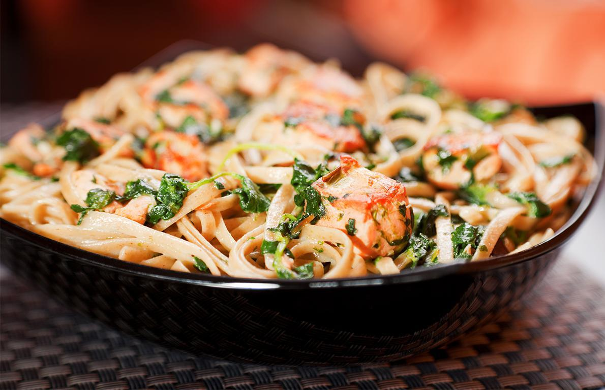 one-pan salmon pasta with kale from one-pot wonders you