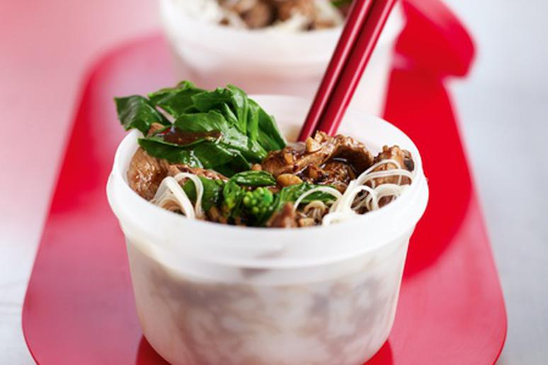 Rice Noodles with Pork and Black Bean Sauce