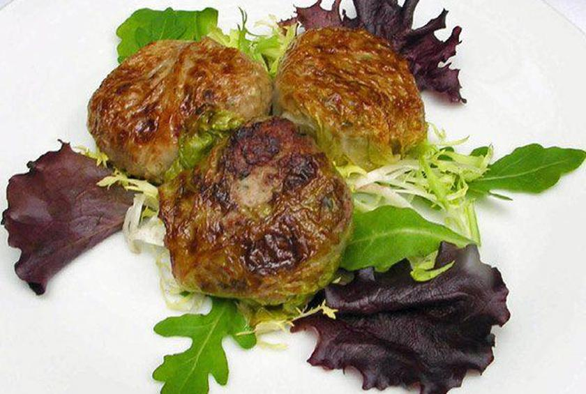 Meatball-Stuffed Cabbage Leaves