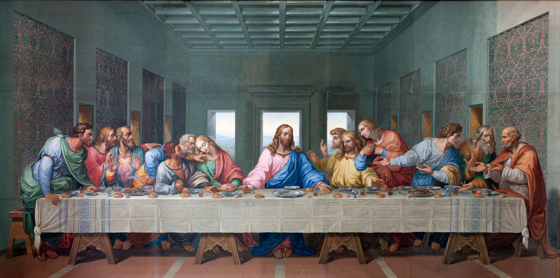 What Was Eaten at the Last Supper? Da Vinci Last Supper High Resolution