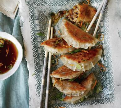 Vegetable Gyoza with Orange Ponzu Sauce