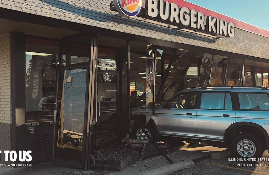 Burger King's New Ads Feature Real Car Wrecks