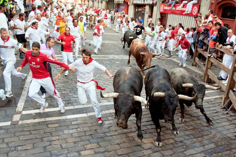 Watch the Running of the Bulls in Pamplona