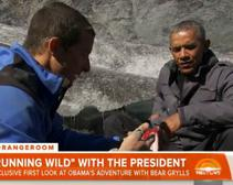 President Obama Eats a Salmon Carcass Left Behind by a Bear on Special Episode of 'Running Wild'