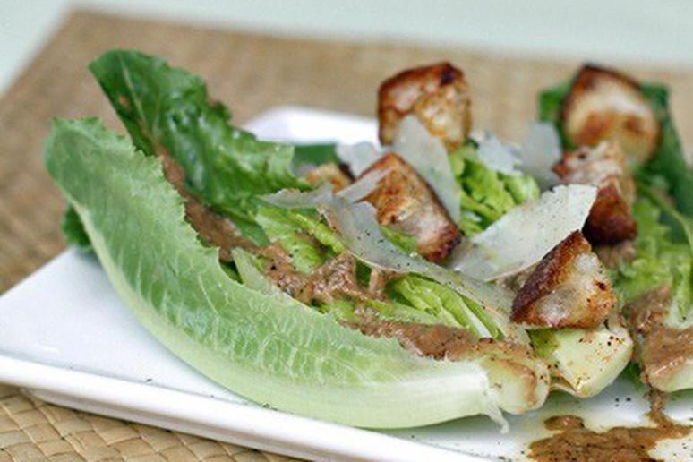 Caesar Salad with Chile-Spiced Croutons