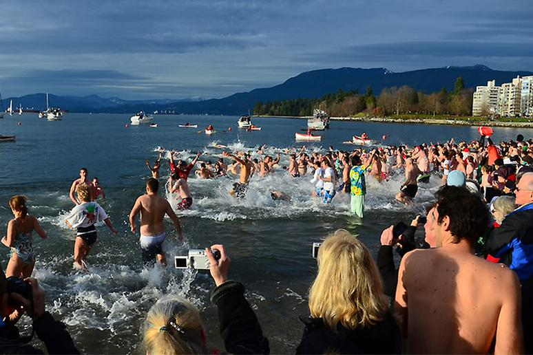 Polar Bear Plunge at English Bay, Vancouver