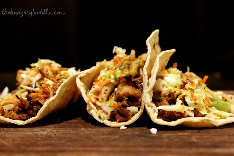 Pulled Pork Tacos With Hard Barbecue Sauce and Apple Slaw