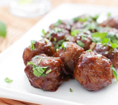 Maple-Glazed Meatballs