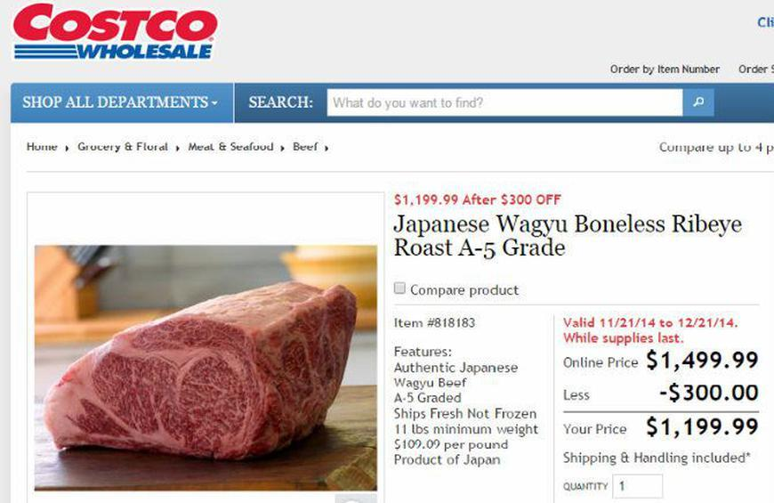 Legendary Japanese Wagyu Beef Available at Costco… for $1,200
