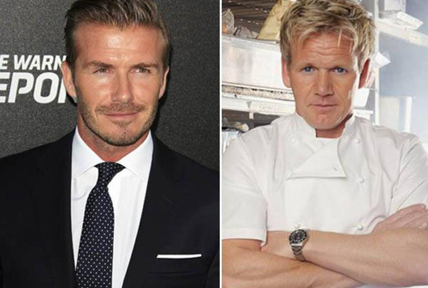 David Beckham and Gordon Ramsay's Pie and Mash