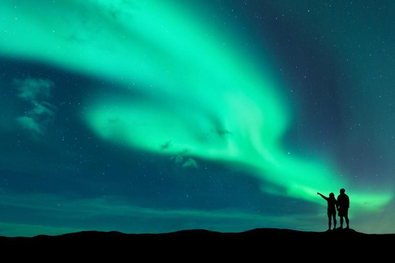 Seeing the northern lights in the Arctic