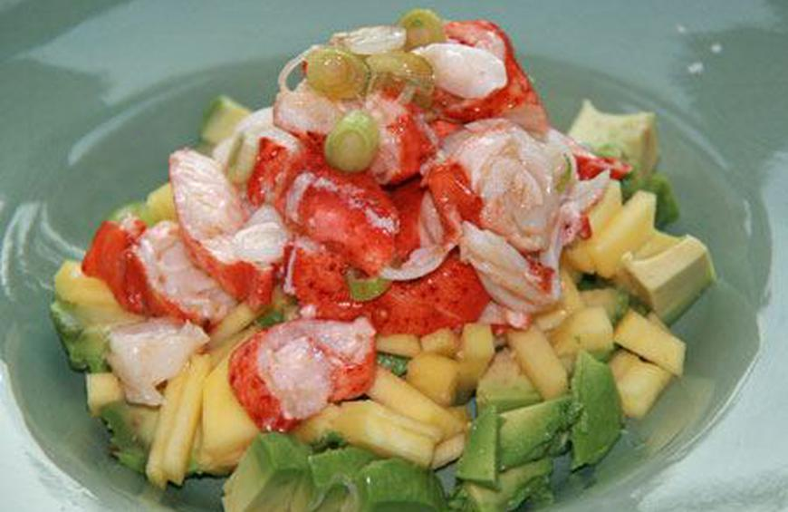 Lobster Timbale with Avocado and Mango