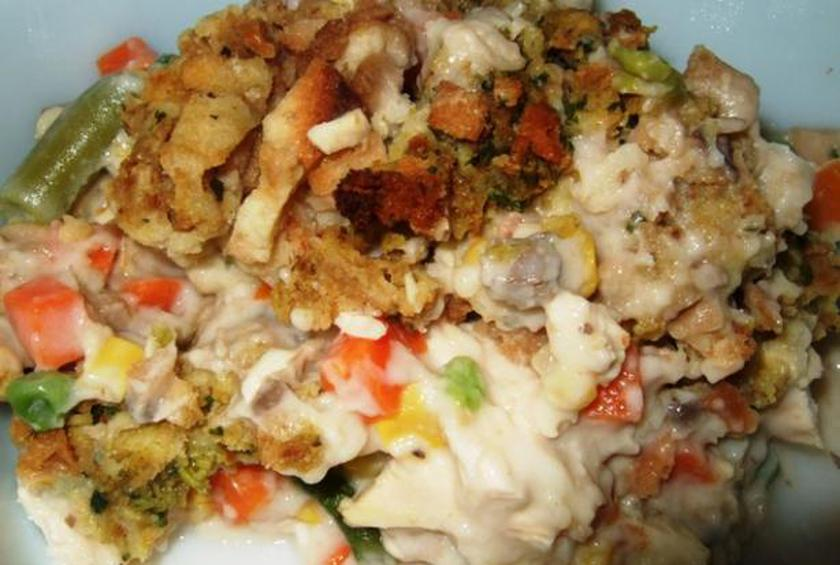 creamy chicken and stove top stuffing casserole by harley seashell