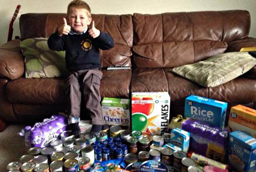 Four Year Old Asks For Food Bank Donations Instead Of Birthday Presents