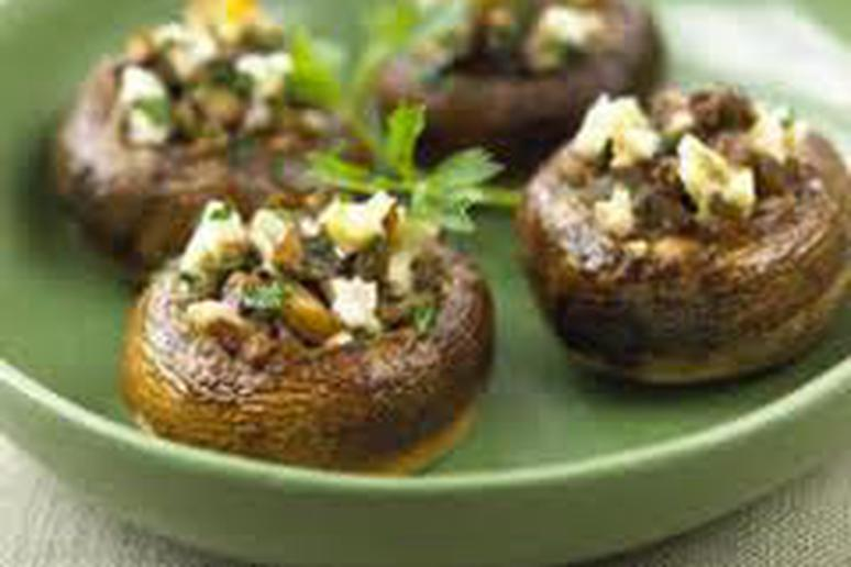 Delicious Biggest Loser Stuffed Mushrooms Recioe