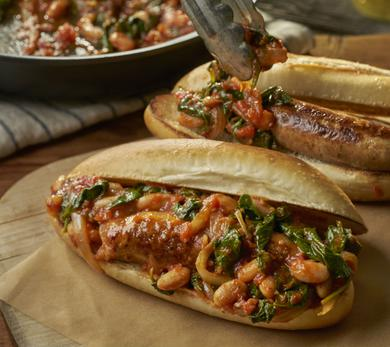 Italian Chicken Sausage and White Bean Sandwiches