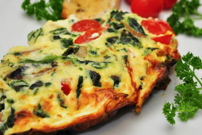 Slow Cooker Spinach and Ham Frittata