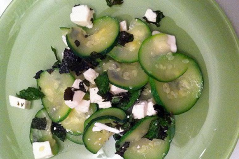 Chilled Zucchini Salad with Mint and Feta