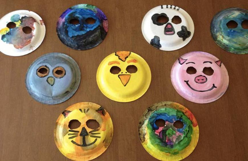 Paper Plate Animal Masks from 20 DIY Projects To Make With Your Kids