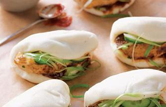 Steamed buns, closeup