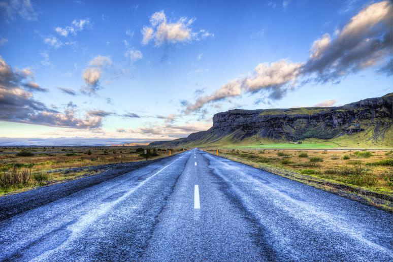 Go for a scenic drive in Iceland