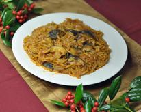Orzo with Shiitake Mushrooms