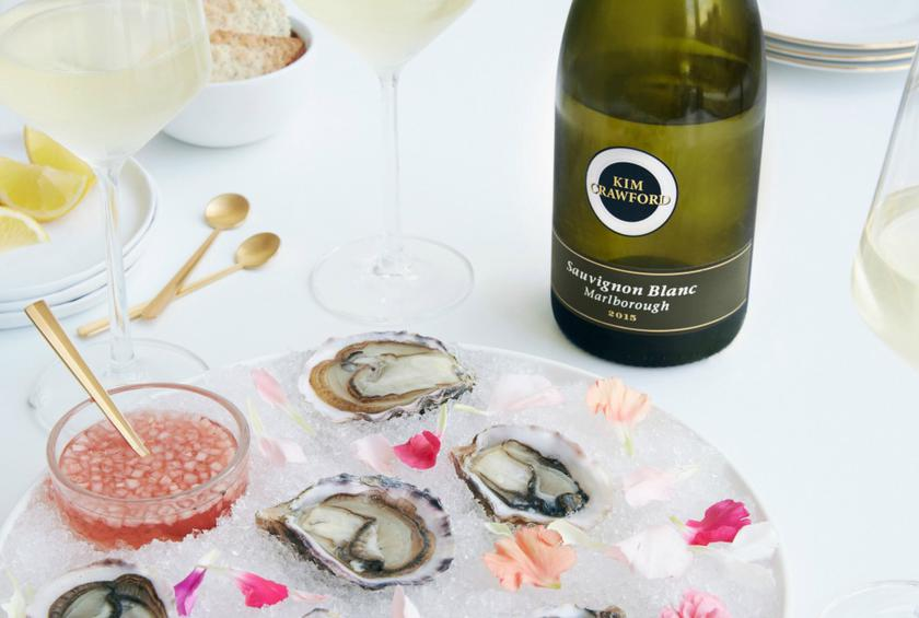 kim crawford oyster mignonette