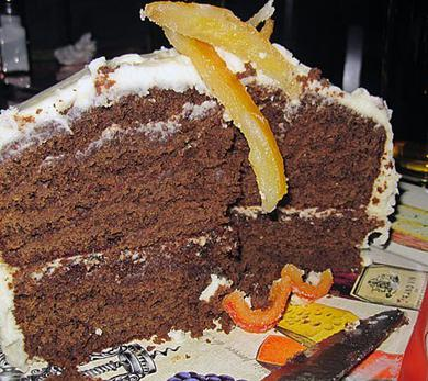 Gingerbread Cake with Grand Marnier Frosting