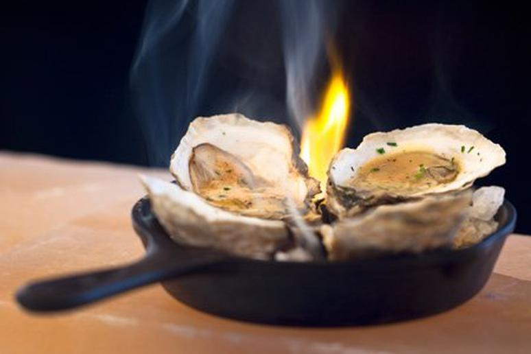 Grilled Oysters with Rosemary Brown Butter
