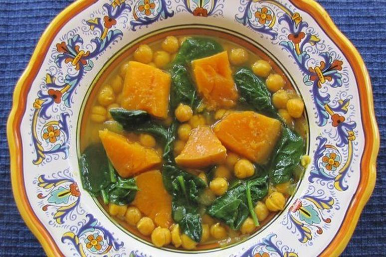 Butternut Squash Soup with Chickpeas