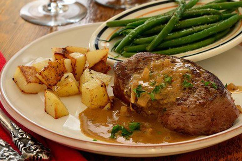 Steak with Brandy and Mustard Sauce