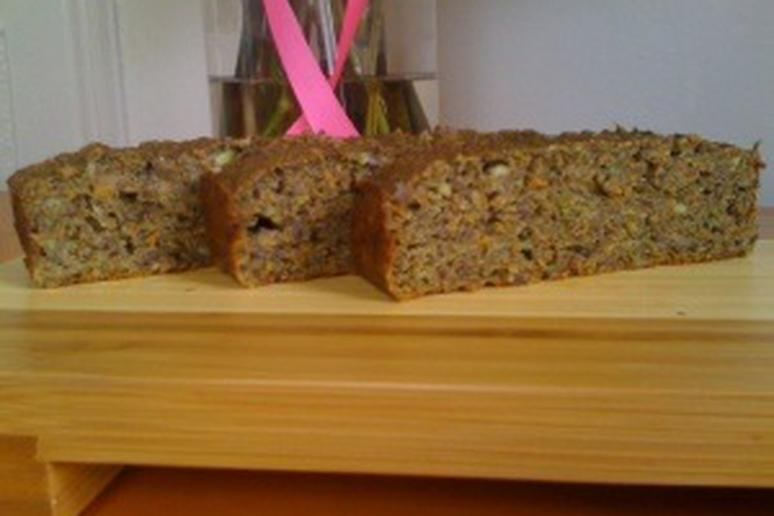 Zucchini and carrot bread. Healthy breakfast