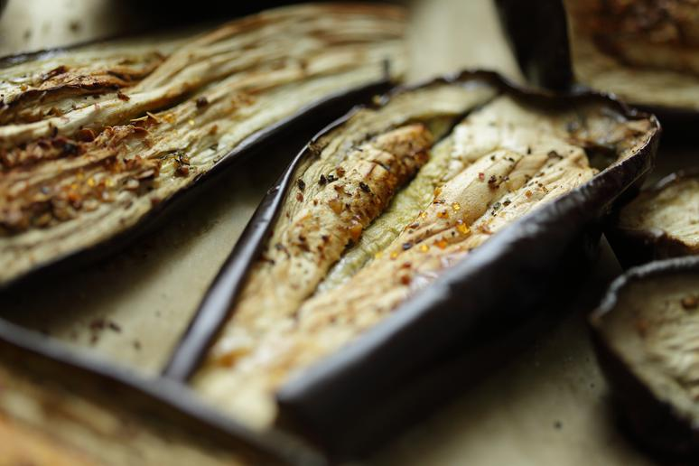 Grilled Eggplant With Feta and Cucumber