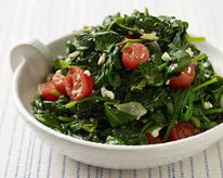 Spinach with Tomatoes and Feta