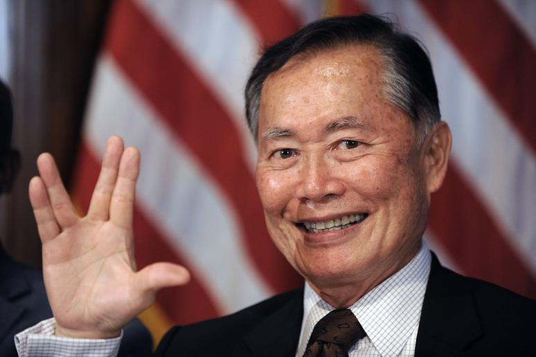 3. George Takei and the stars of 'Star Trek'