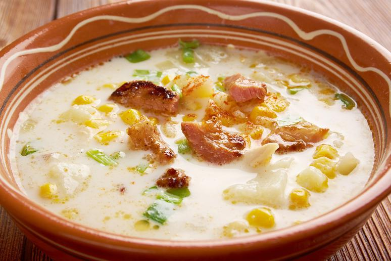 Slow Cooker Poblano Corn Chowder Chicken and Chorizo