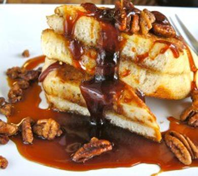 Bacon Jam Stuffed French Toast with Chicory Coffee Syrup Recipe
